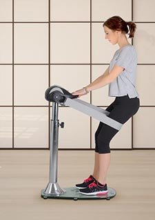 Massage des cuisses avec la Slim Power Fitness